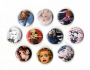 ALBUM COVERS - 10x PIN BUTTON BADGE SET